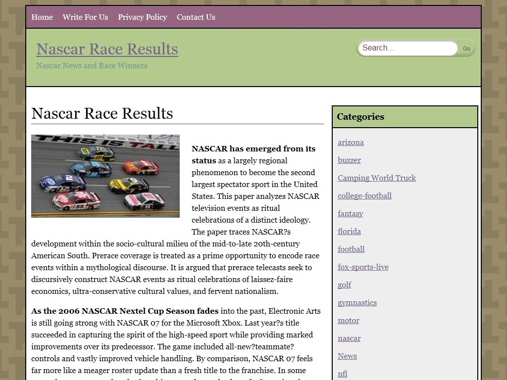 nascarraceresults.com